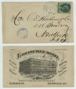 Mr Fancy Cancel 3cG ILLUSTRATED OVERALL AD COVER LOUISVILLE KENTUCKY HOTEL