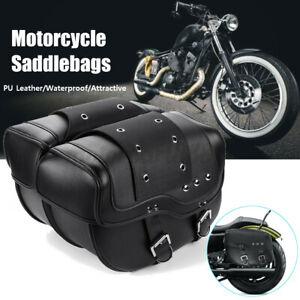 Universal Motorcycle Luggage Saddle Bags Pannier Bag Tool Bag Pouch PU