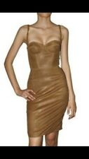 Dsquared new Leather Corset Dress It40 UK8 Party