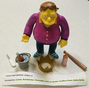 2003 Series 11 Playmates WOS The Simpsons PLOW KING BARNEY Figure Complete