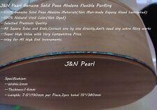 "Genuine Solid Paua Abalone Guitar Flexible Purfling,W:2mm,L:380mm/15"",T:1.6mm"
