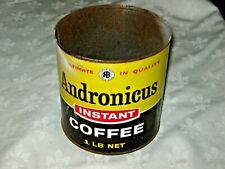 A Vintage Australian 1960's Pre Metric Andronicus Sydney 1lb Instant Coffee Tin