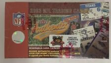 2003 Fleer Authentix Football Box Dallas Cowboys Exclusive Factory Sealed