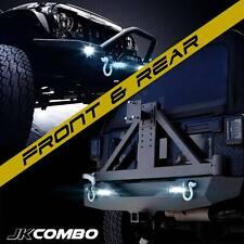 Rock Crawler Front Bumper & Rear Bumper Tire Carrier Mount Combo for Wrangler JK