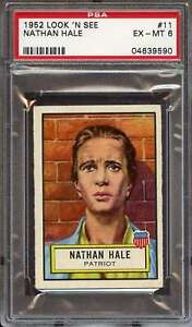 1952 TOPPS LOOK 'N SEE #11 NATHAN HALE PSA 6 *DS11714