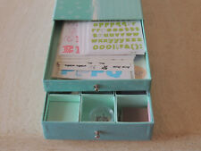 SCRAPBOOK AND EMBELLISHMENTS WITH DECORATE STORAGE BOX ,stickers craft supply