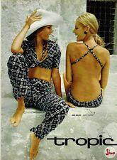 A- Publicité Advertising 1970 Pret à porter vetement maillot de bain Tropic