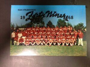 San Francisco 49ers 1983 Team Postcard with Facsimile Autographs 7 1/2 x 5