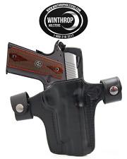 "1911 4.25"" No lasergrips M1913 Picatinny OWB Shield Dual Snap Holster R/H Black"