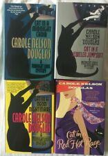 """Carole Nelson Douglas - Midnight Louie Mystery - 4 Hardcover Books - """"Cat In A"""""""