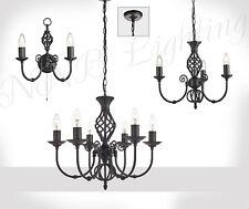 Kronleuchter Pendelleuchte Hängelampe Wandleuchte 2,3,6 Flammig Metall Lampe