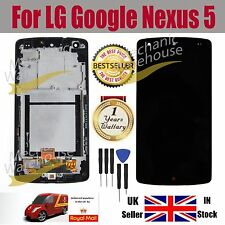 For Black LG Google Nexus 5 D820 D821 LCD Touch Screen Display Digitizer Frame