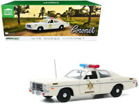 "1975 DODGE CORONET CREAM ""HAZZARD COUNTY SHERIFF"" 1/18 DIECAST GREENLIGHT 19092"