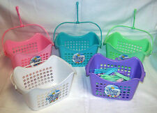 1 x Pastel Peg Tidy Basket and 24 Pastel Jumbo Clothes Pegs - Colour sent Random
