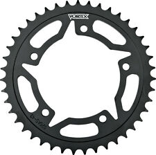 VORTEX STEEL REAR SPROCKET BLACK 44T Fits: Suzuki DL1000 V-Strom,GSX-R600,GSX-R7