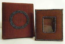 Mini Weinrot Aufgereiht Stoff Foto Rahmen mit 3.8x2.5cm Pass Bild