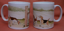 BEAGLE HOUND DOG MUG OFF TO THE DOG SHOW WATERCOLOUR PRINT SANDRA COEN ARTIST