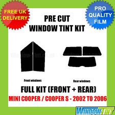 Pre Cut Window Tint - MINI COOPER 2002-2006 FULL KIT