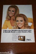 BD21=1972=REX TV KESSLER ALICE ELLEN GEMELLE=PUBBLICITA'=ADVERTISING=WERBUNG=