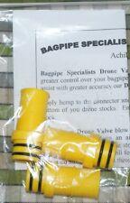 Set von 3 gelb Drohne Ventile für Dudelsackpfeifen Highland