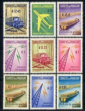 PARAGUAY 1961 camion/barca/Piano/Radio/commerce 9v n31252