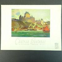 1957 Chateau Frontenac Restaurant Menu - Vintage Canadian Pacific Quebec