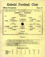 Football Non-League Fixture Programmes (1960s)