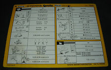Inspektionsblatt Toyota Corolla Diesel CE 100 Werkstatt Service Stand 01/1994!