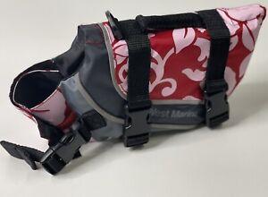 WEST MARINE Hawaiian Red Pink Dog Life Jacket Safety Vest Preserve Sz XS NWOT