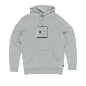 Huf Box Logo Pullover Hooded Sweatshirt - Heather Grey