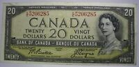 1954 Canada 20 dollar bill - Crisp Canada $20 Beattie - Coyne KE5206285