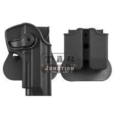 Funda de Pistola Táctica de retención girar para Beretta 92 96 M9 Con Bolsa De Revista