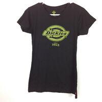 Dickies Girl Moss Logo Black Tee Juniors Size XL X-Large Short Sleeve T-shirt