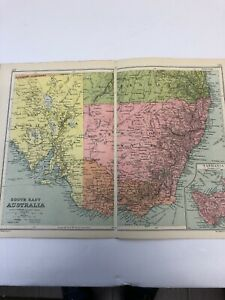 Antique 1930 Map: South East Australia Original Vintage 90 Years Old Print