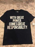 Rare Marvel Gap Kids Sipederman Boy's Heroes T-Shirt Size Medium  8-9 NWT