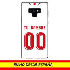 Funda Movil Cases Samsung Camiseta Futbol Compatible con Sevilla Nombre Numero