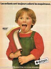 PUBLICITE ADVERTISING 085 1981   ERAM  les bottes chaussures pour enfants