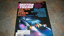 MOTOR TREND MAGAZINE JULY'80  FORD ESCORT LYNX