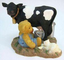 Cherished Teddies 2001 Macdonald Bessie, Rare Black Cow Edition
