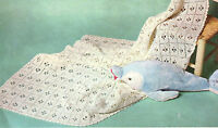 CROCHET- Pattern-Baby Call the Midwife Crochet shawl in 3 ply- Vintage pattern