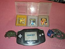 Gameboy Advance with pokemon gold & silver +more