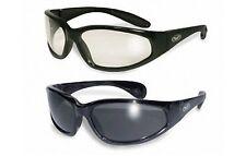 2 Hercules Clear & Smoke Safety Lens Glasses Sunglasses Motorcycle Ski Sport Ski