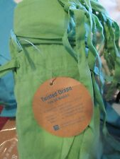 2 Pottery Barn Teen twisted sheer Drapes 40 X 96 green New