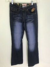 Leo Roma Jeans womens sz 5x30 twisted leg boot cut embroidered flap pockets