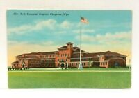 Cheyenne Wyoming US Veterans Hospital Vintage Postcard