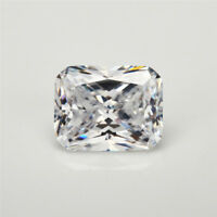 5.2Ct Unheated White Sapphire Emerald Cut 8x10mm AAAAA+ VVS Loose Gemstone