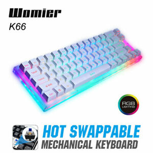 Womier K66 PBT LED RGB Backlit Gateron Hot Swappable Gaming Mechanical Keyboard