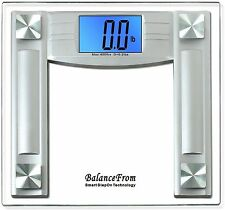"Digital Bathroom Scale 4.3"" LCD Balance Body Weight Diet Fitness Exercise Health"