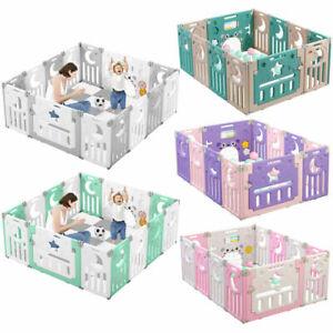 Box Bambini Box Portatile Recinto per Bambini Barriera Pieghevole 14x Pannello