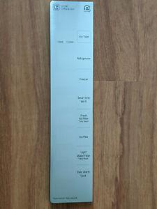LG REFRIGERATOR DISPENSER CONTROL PANEL SILVER METAL COVER MCK665851-#3